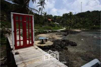 Caribbean Ocean Front Home on Isla Grande in Colon - $465,000
